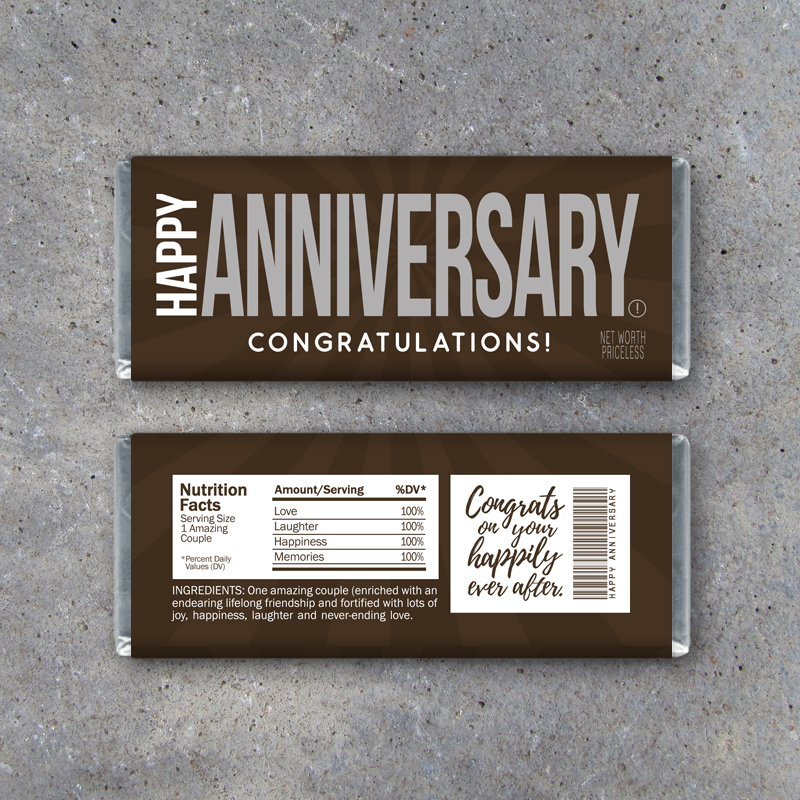 Happy Anniversary Candy Bar Wrapper