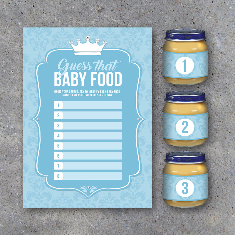 Baby Shower Guess That Baby Food Game with Baby Food Jar Labels – Printable Little Prince Instant Downloads – Party Game for Baby Showers