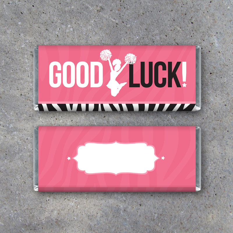 Cheerleading GOOD LUCK Candy Bar Wrapper – Printable Instant Download – Hershey's Candy Bar Wrapper – Locker Treats – Cheerleading Gifts