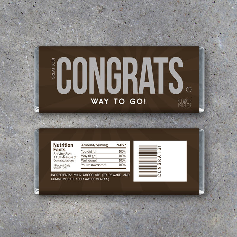 CONGRATS Candy Bar Wrappers – Printable Instant Download – DIY Hershey Bar Congratulations Gift Idea – Good Job on Your Success Party Favors