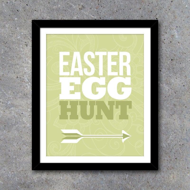 Easter Egg Hunt Sign – 8×10 Printable File – Easter Egg Hunt Poster – Easter Party Printables – Instant Download in 4 Colors!