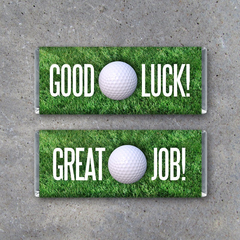 "Golf Candy Bar Wrappers featuring ""Good Luck!"" or ""Great Job!"" – Hershey's Sports Printable Instant Download – Golf Treats – Golf Gift Ideas"