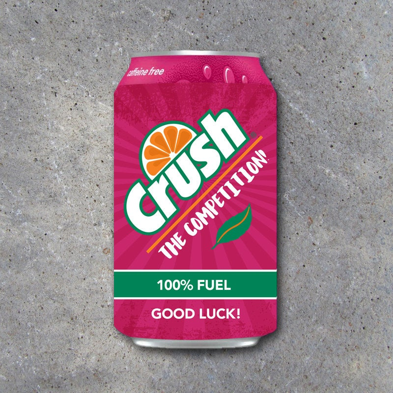 Good Luck Pop Can Wraps – Printable Sports Labels to fit Strawberry Crush – Game day locker treats – DIY gift ideas for basketball, soccer
