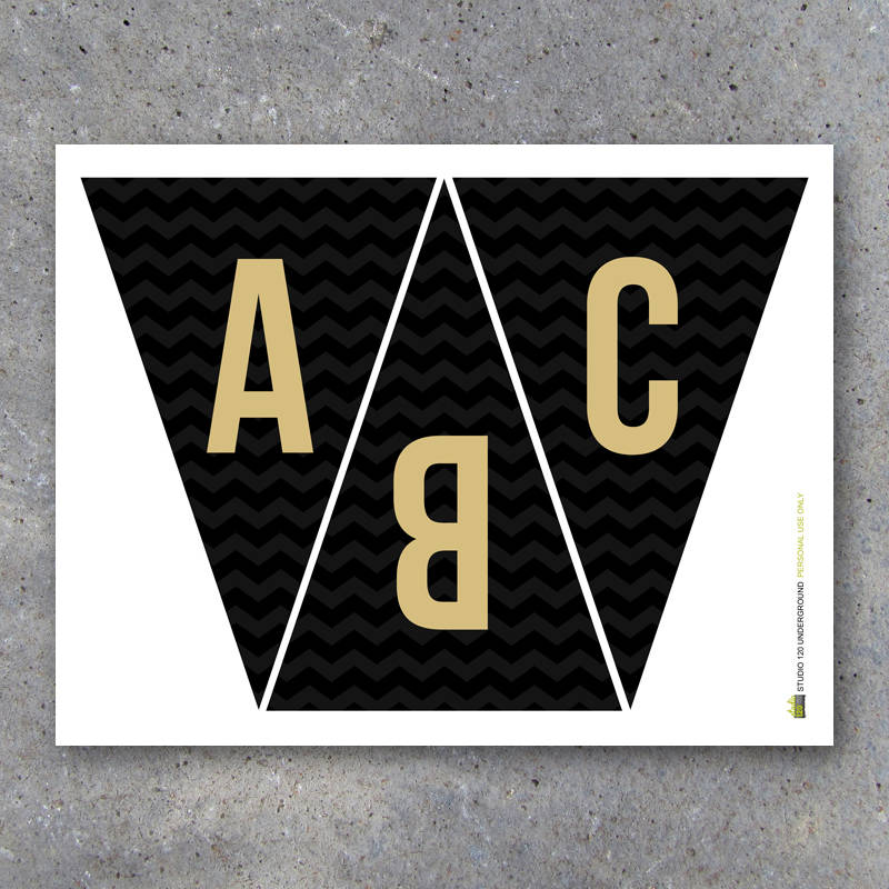 Graduation Banner in Black and Gold – Printable Instant Download – Congratulations Party Banner – Alphabet Banner – Graduation Party Decor
