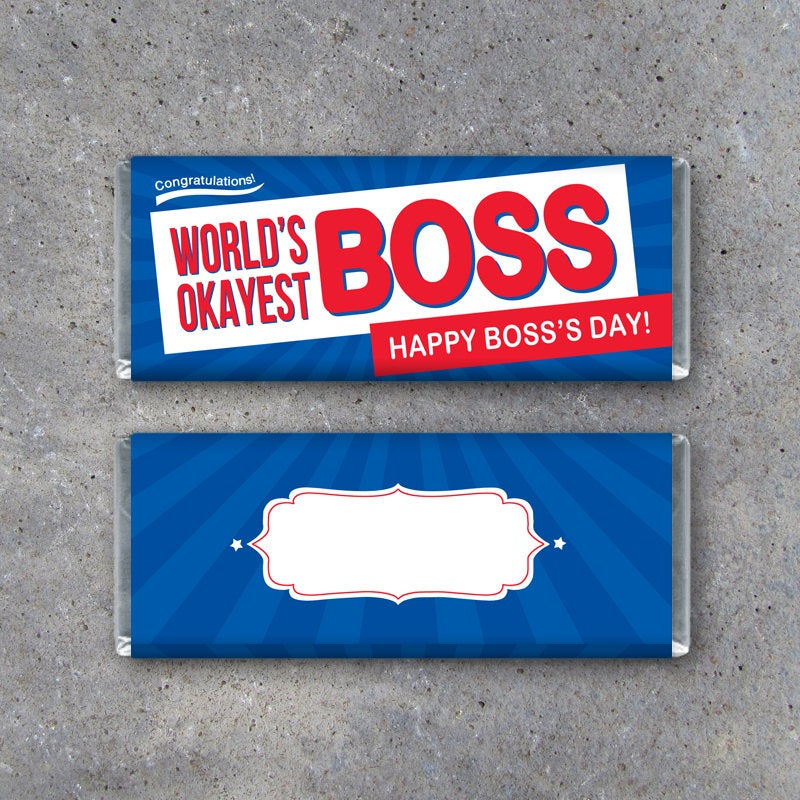 Happy Boss's Day Candy Bar Wrappers – Printable Download to fit Crunch Bars – Bosses Day Funny Gift Idea – Last Minute DIY Gift for Boss