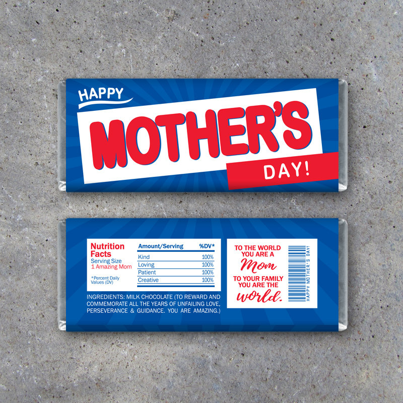 Happy MOTHER'S DAY Crunch Candy Bar Wrappers – Printable Instant Download – Mothers Day Gift Idea – Last Minute Diy Mothers Day Gift For Mom