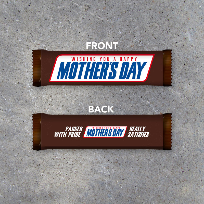 Happy Mother's Day Printable Candy Bar Wrapper – Instant download to fit Snickers – Mothers Day Gift Idea – Last Minute DIY Gift for Mom