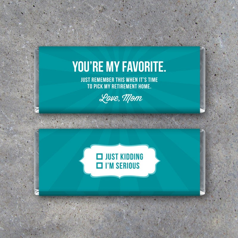 LOVE, MOM Candy Bar Wrapper #6 – Printable Instant Download – Funny Passive Aggressive Notes – Hilarious DIY Gifts for Kids and Teenagers
