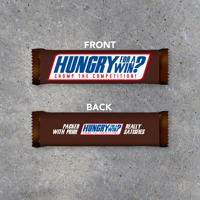 Snickers Sports Locker Treat Candy Bar Wrapper – Printable Instant Download Wrapper for locker treats & pre-game goodie bags – sports gifts