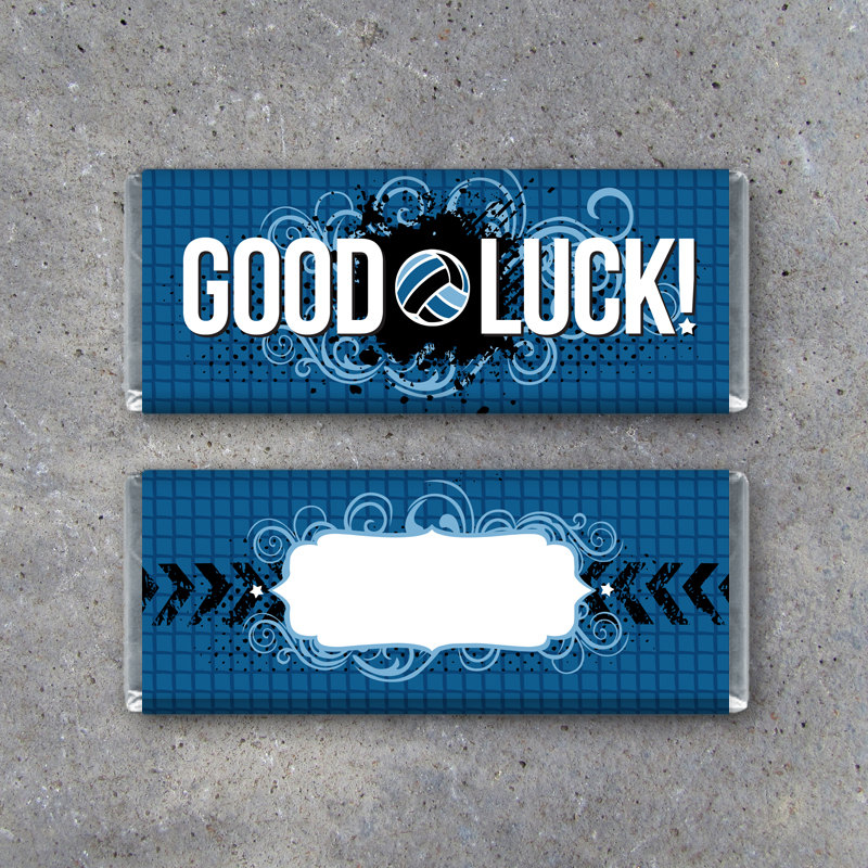 Volleyball GOOD LUCK Candy Bar Wrapper–Printable Instant Download Wrappers in Red and Blue for Game Day Locker Treats – Volleyball Gifts