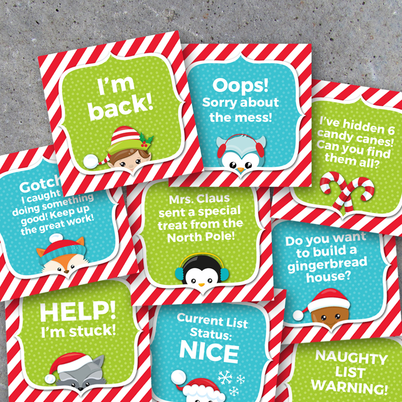 Shelf Elf Activity Cards