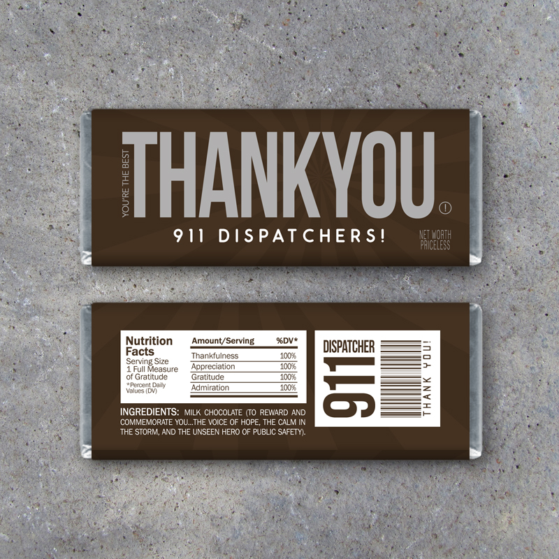 911 Dispatcher Thank You Gift